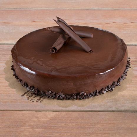Bavarois Chocolade, gesneden (8 p.)